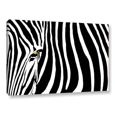 Brushstone Zebra Stripes Gallery Wrapped Canvas Wall Art, One Size , Black