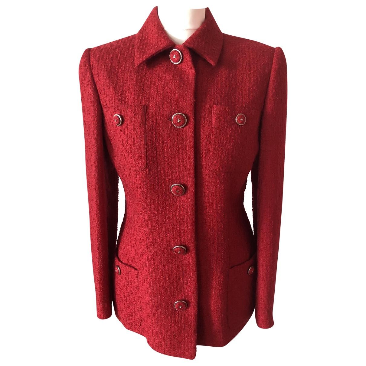 Versace \N Red Wool jacket for Women 38 FR