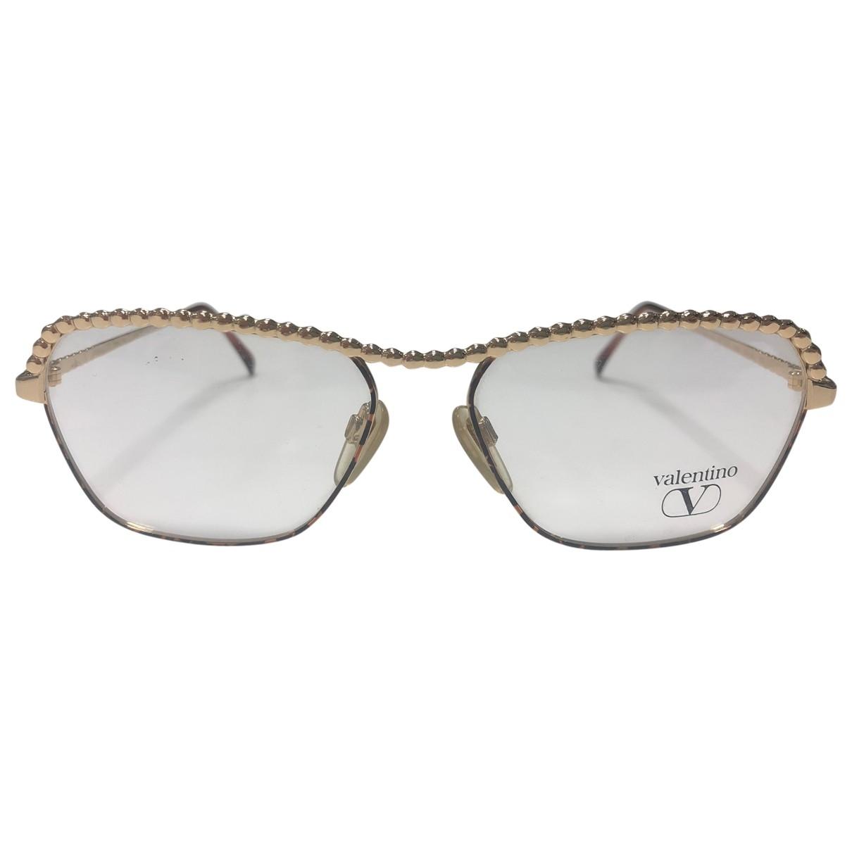 Valentino Garavani \N Gold Metal Sunglasses for Women \N