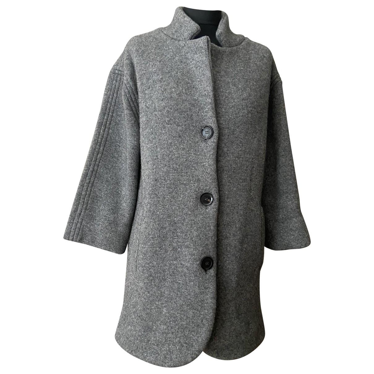 Burberry \N Grey Wool coat for Women S International