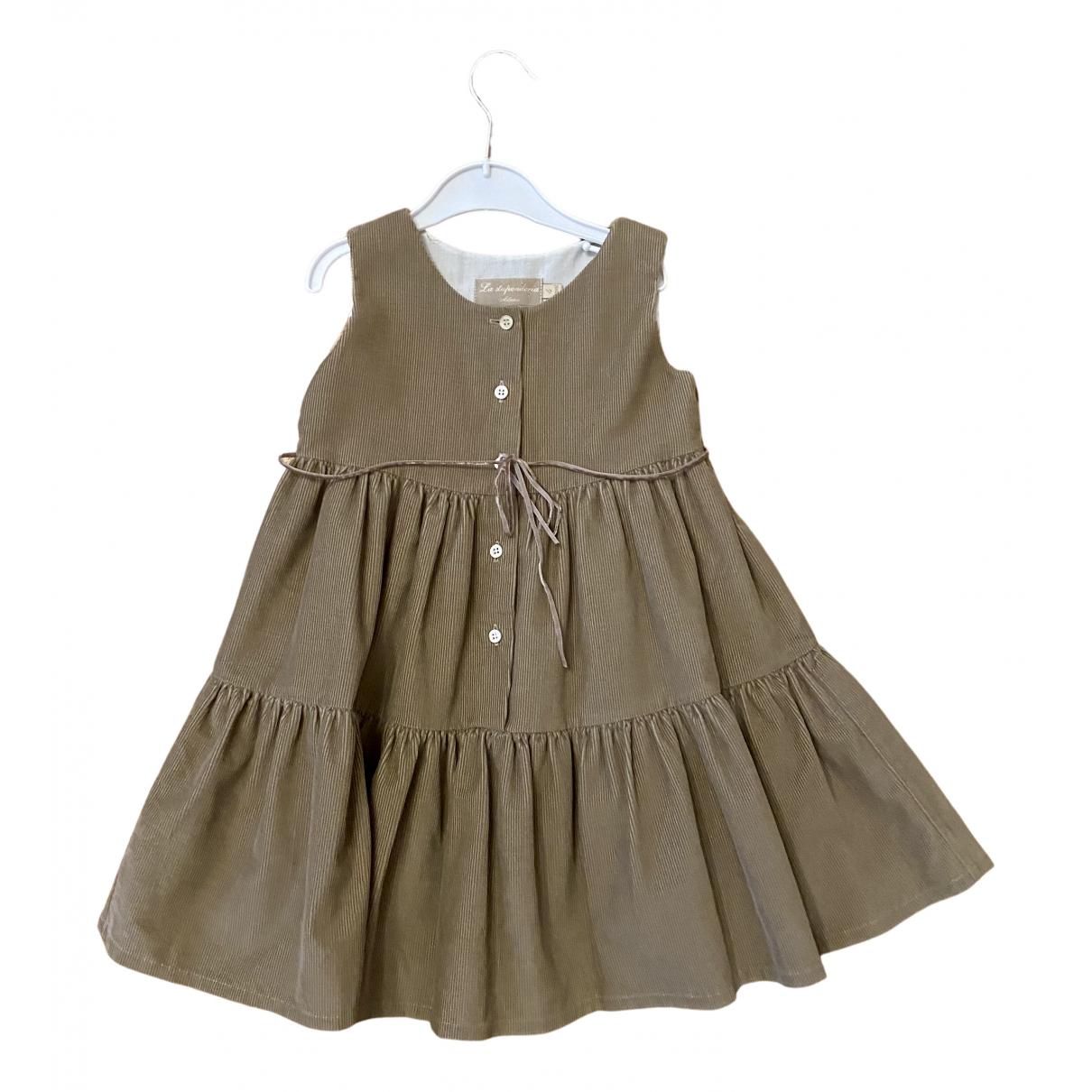 La Stupenderia \N Kleid in  Braun Baumwolle