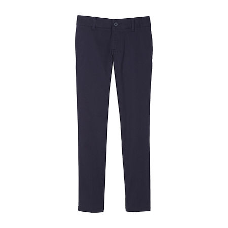 French Toast Little & Big Girls Skinny Flat Front Pant, 10.5 Plus , Blue
