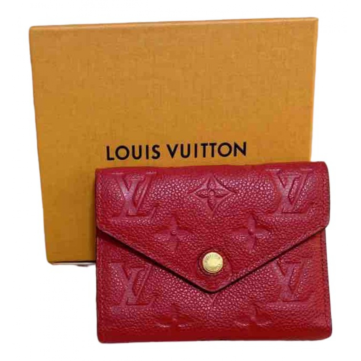 Louis Vuitton Victorine Red Leather wallet for Women \N