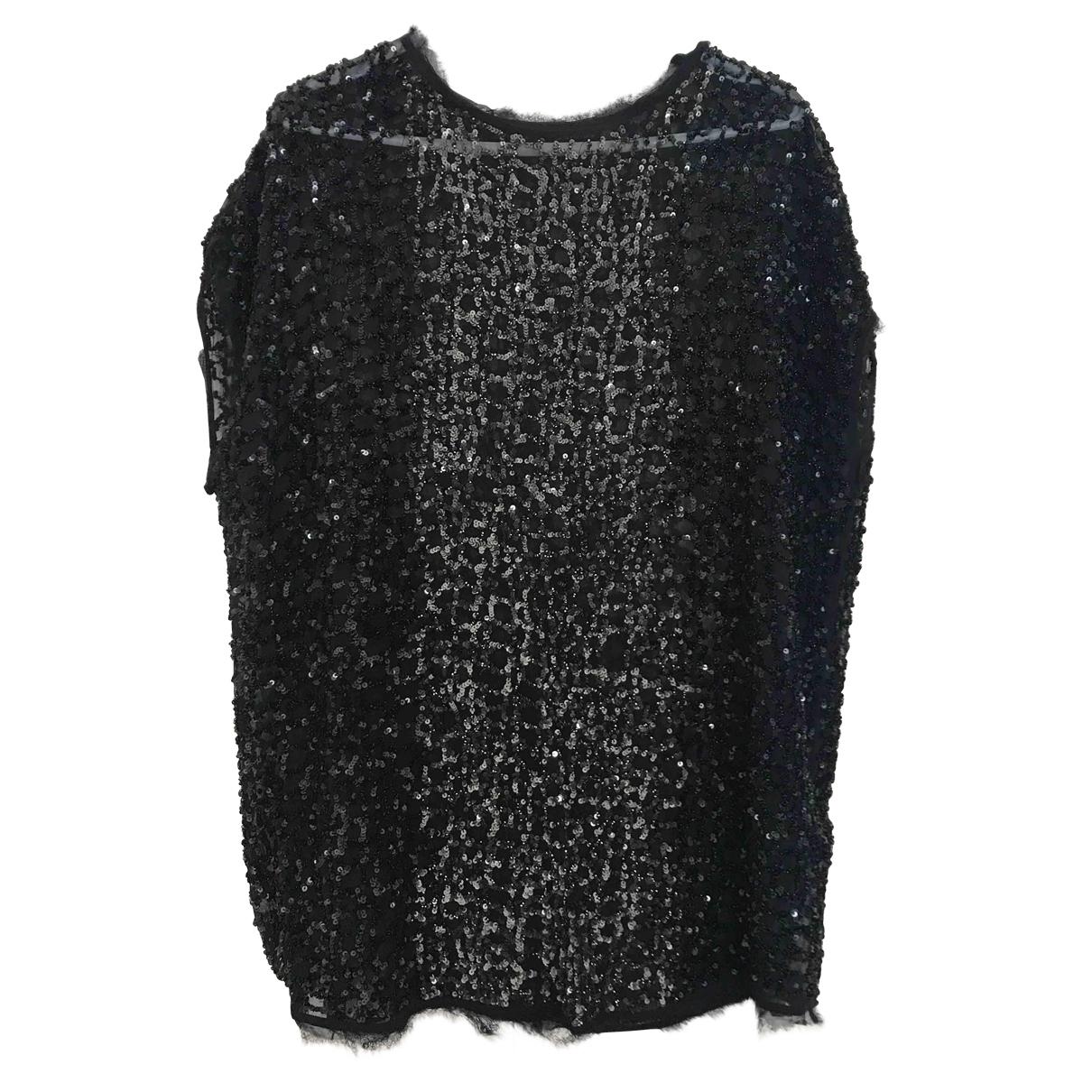 All Saints - Top   pour femme en coton - noir