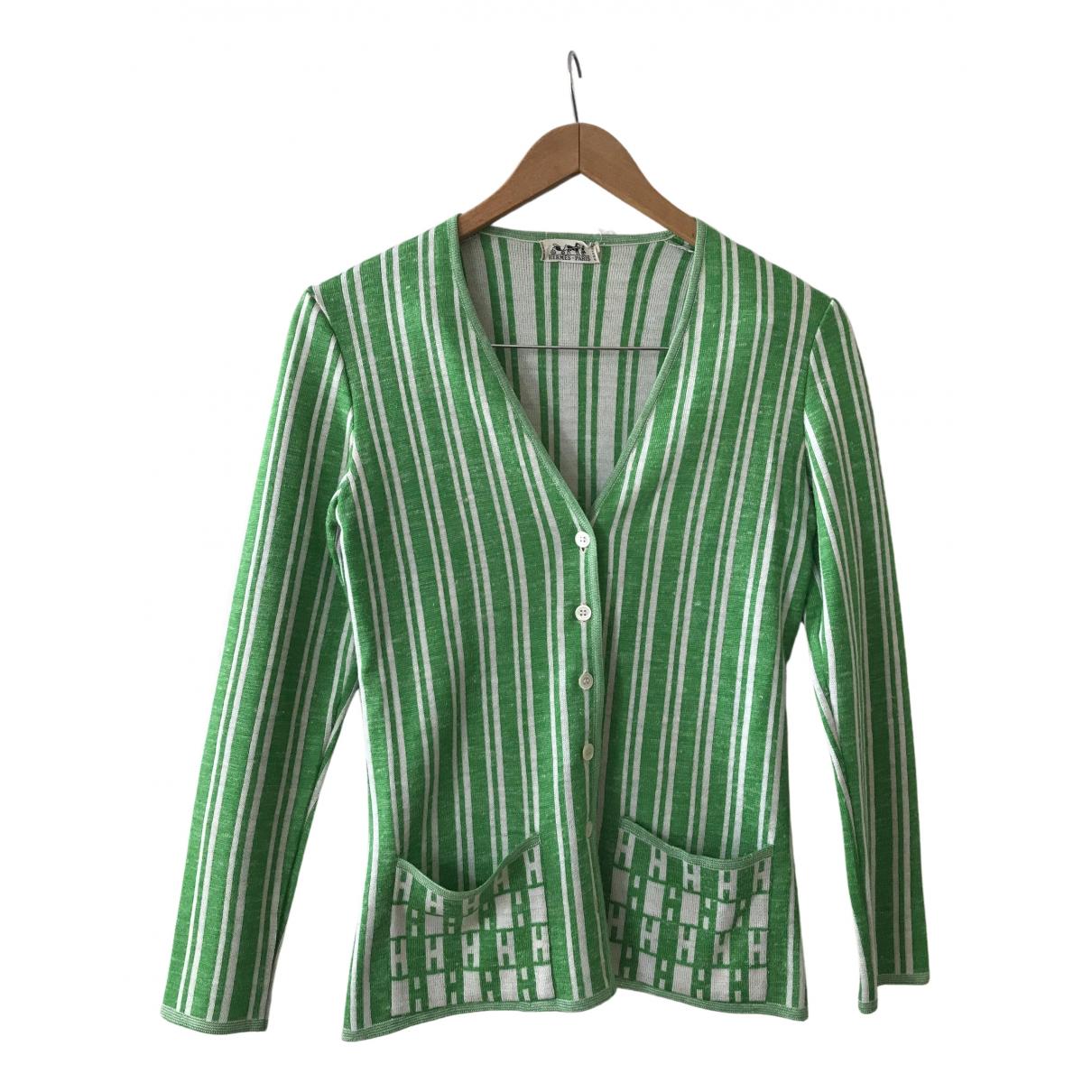 Hermes - Pull   pour femme - vert