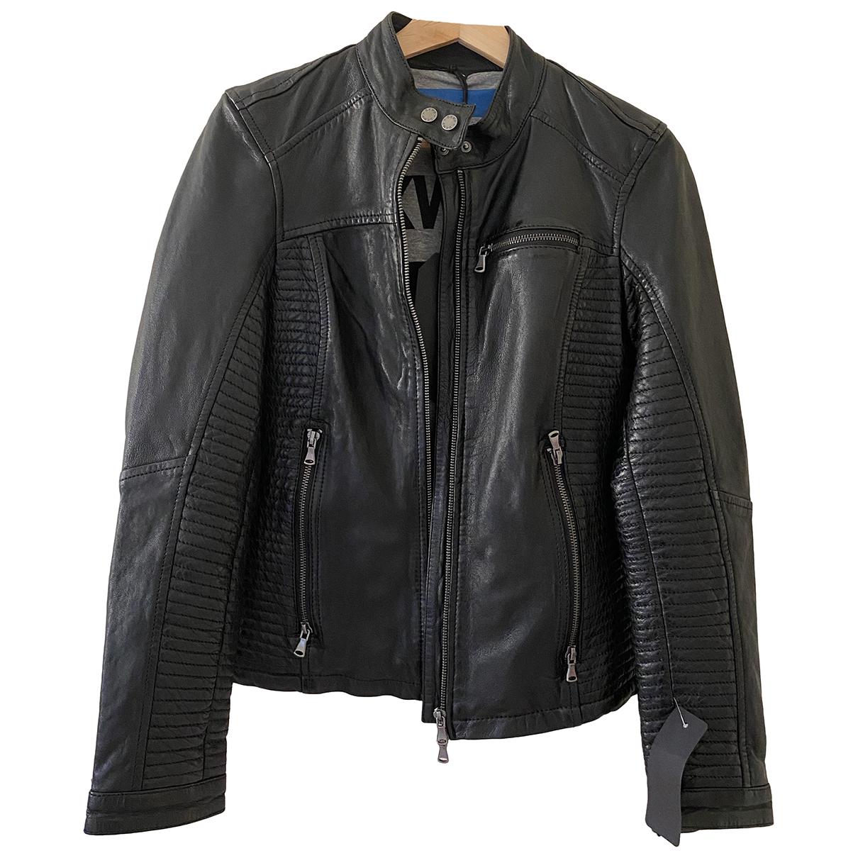 Oakwood - Veste   pour femme en cuir - noir