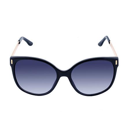 Liz Claiborne Mallard Womens Sunglasses, One Size , Black