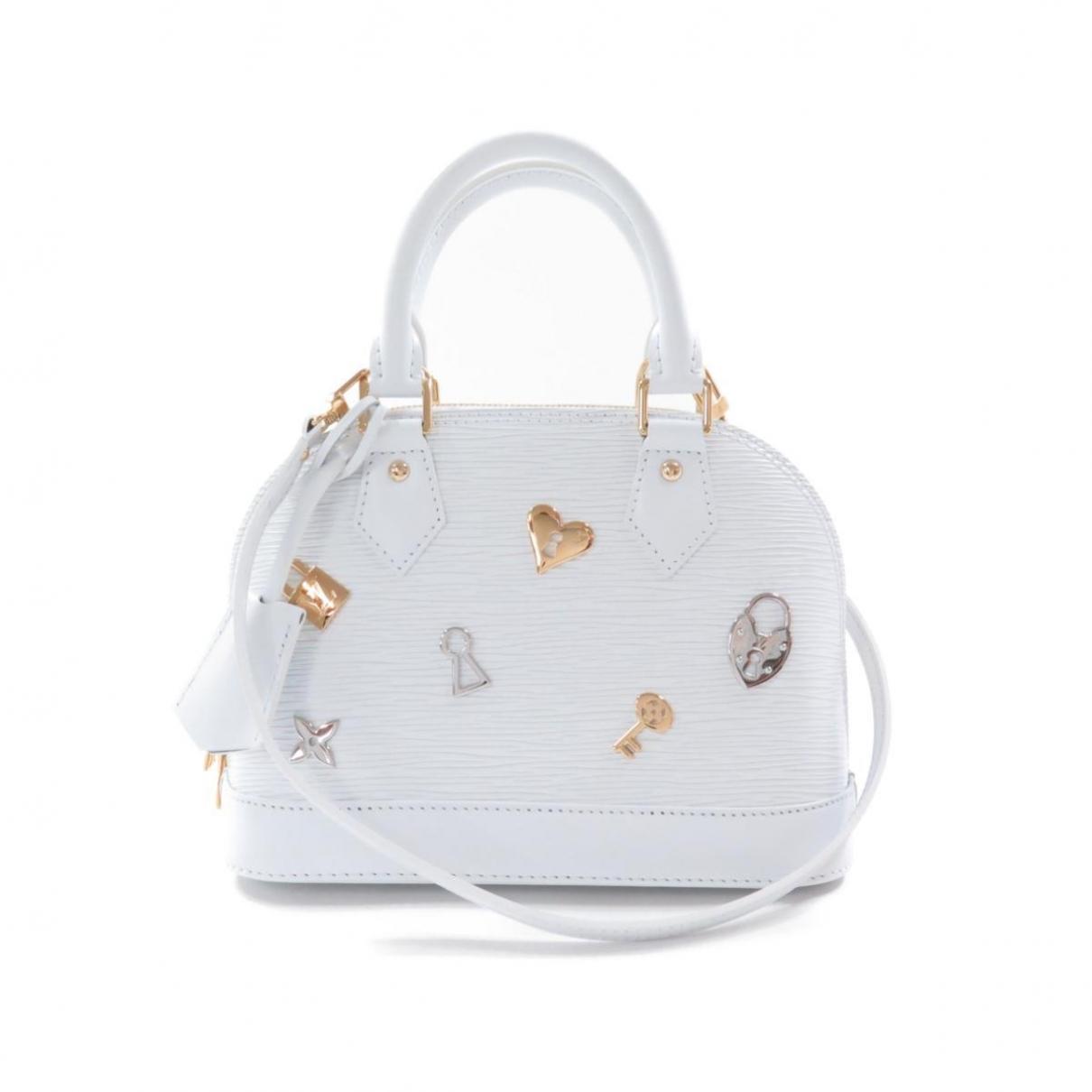Louis Vuitton Alma BB White Leather handbag for Women \N