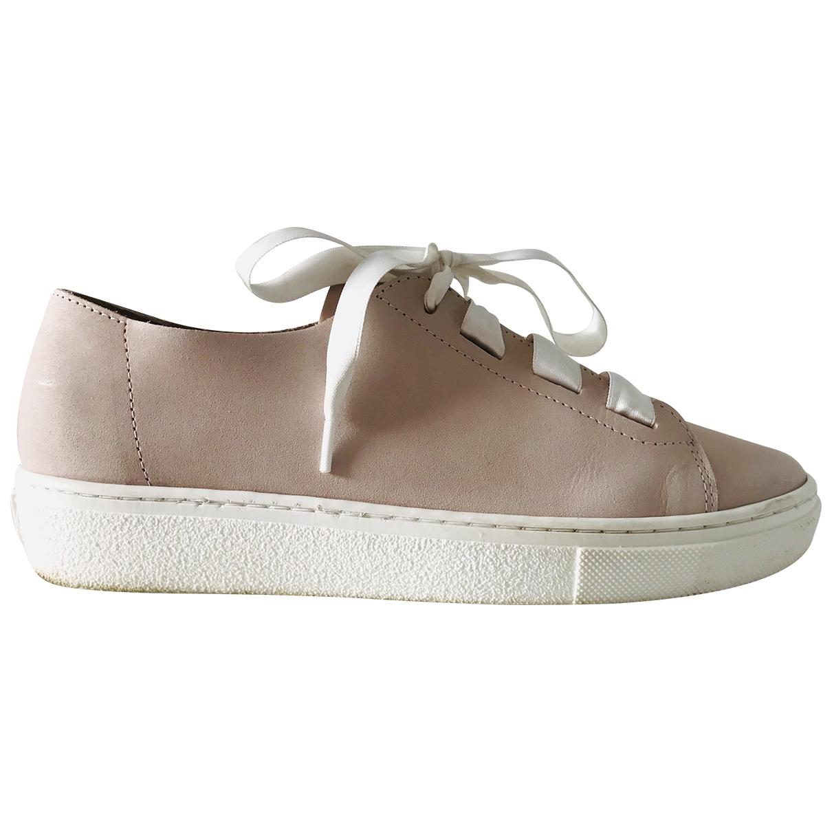 Marc Cain \N Sneakers in  Rosa Leder