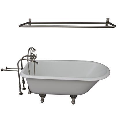 TKCTRN60-SN6 Tub Kit 60 CI Roll Top  Shower Rd  Filler  Supplies  Drain-Brush