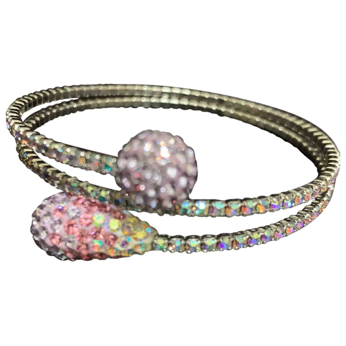 Non Signe / Unsigned \N Armband in  Lila Kristall