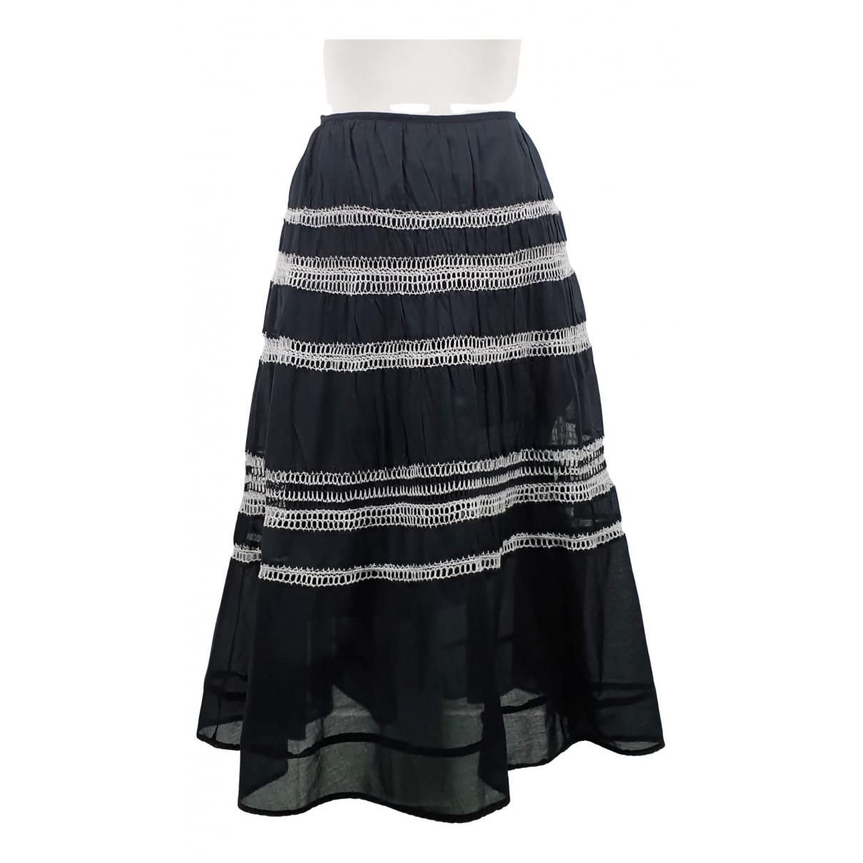 Max Mara Weekend \N Black Cotton skirt for Women 44 IT