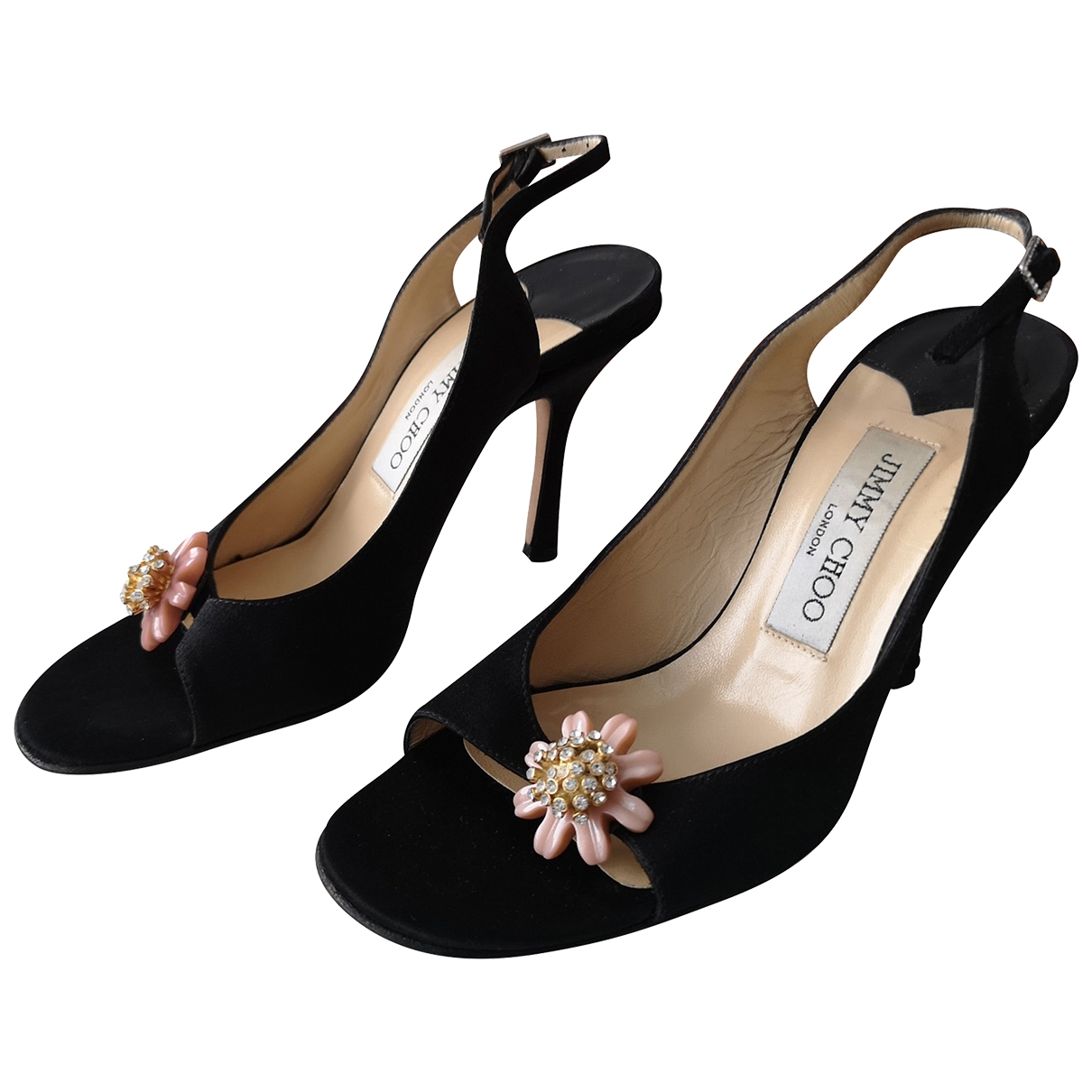 Jimmy Choo - Sandales   pour femme en toile - noir