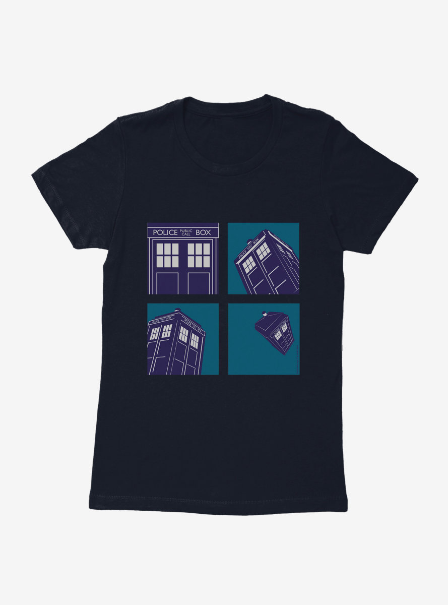 Doctor Who TARDIS Hasty Escape Womens T-Shirt