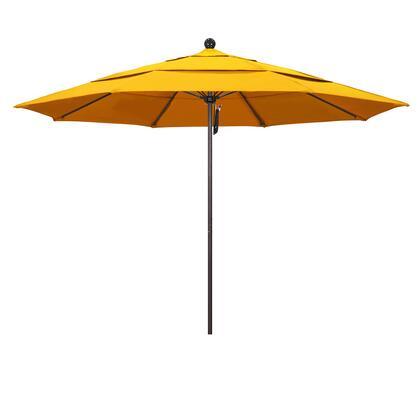 ALTO118117-5457-DWV 11 Venture Series Commercial Patio Umbrella With Matted White Aluminum Pole Fiberglass Ribs Pulley Lift With Sunbrella 1A