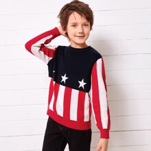 Boys Red White and Blue Sweater