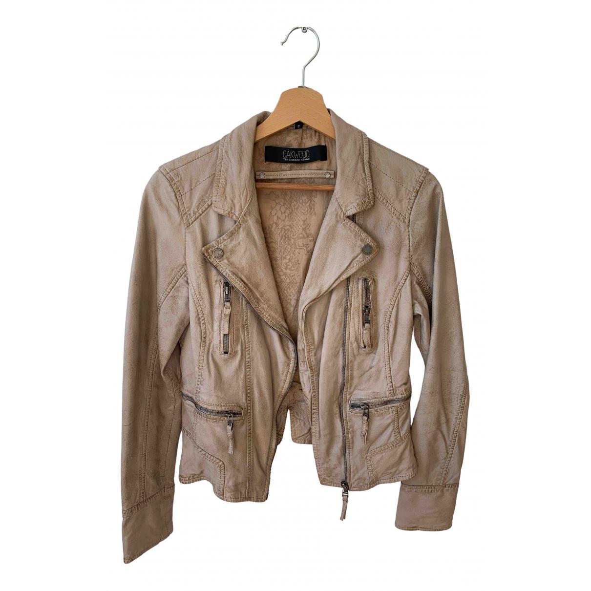 Oakwood - Veste   pour femme en cuir - beige