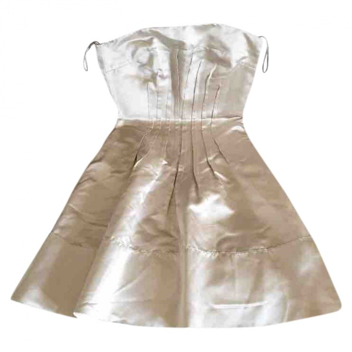 Miu Miu - Robe   pour femme en soie - blanc