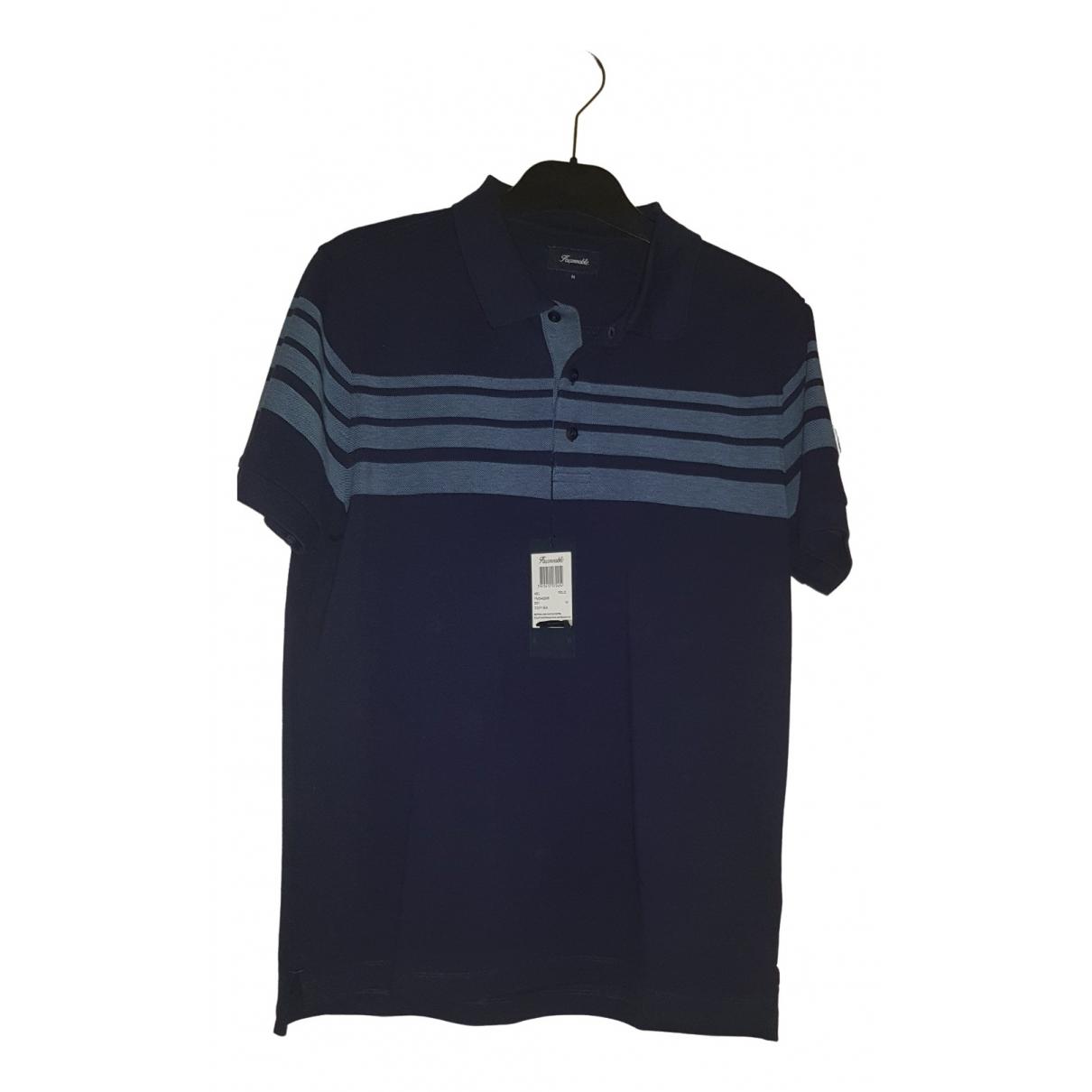 Polo en Algodon Azul Faconnable