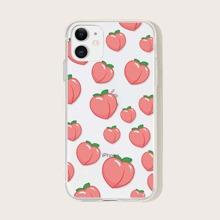 Peach Print iPhone Case