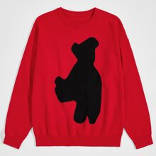 Pullover mit Grafik Muster