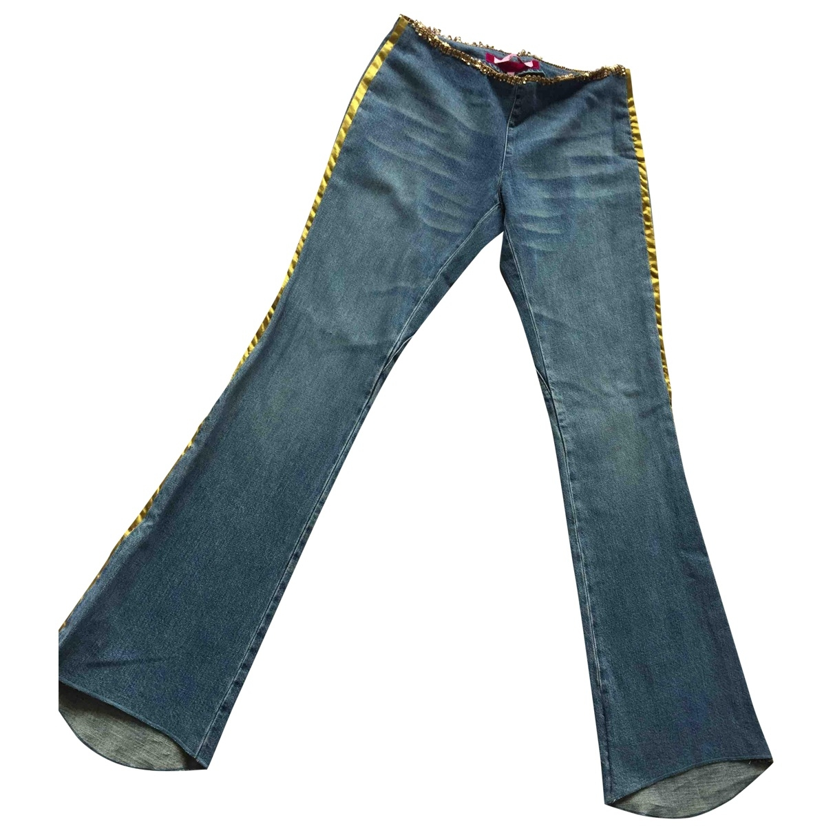 Non Signé / Unsigned \N Navy Denim - Jeans Trousers for Women 40 IT