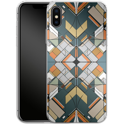 Apple iPhone X Silikon Handyhuelle - Mosaic I von caseable Designs