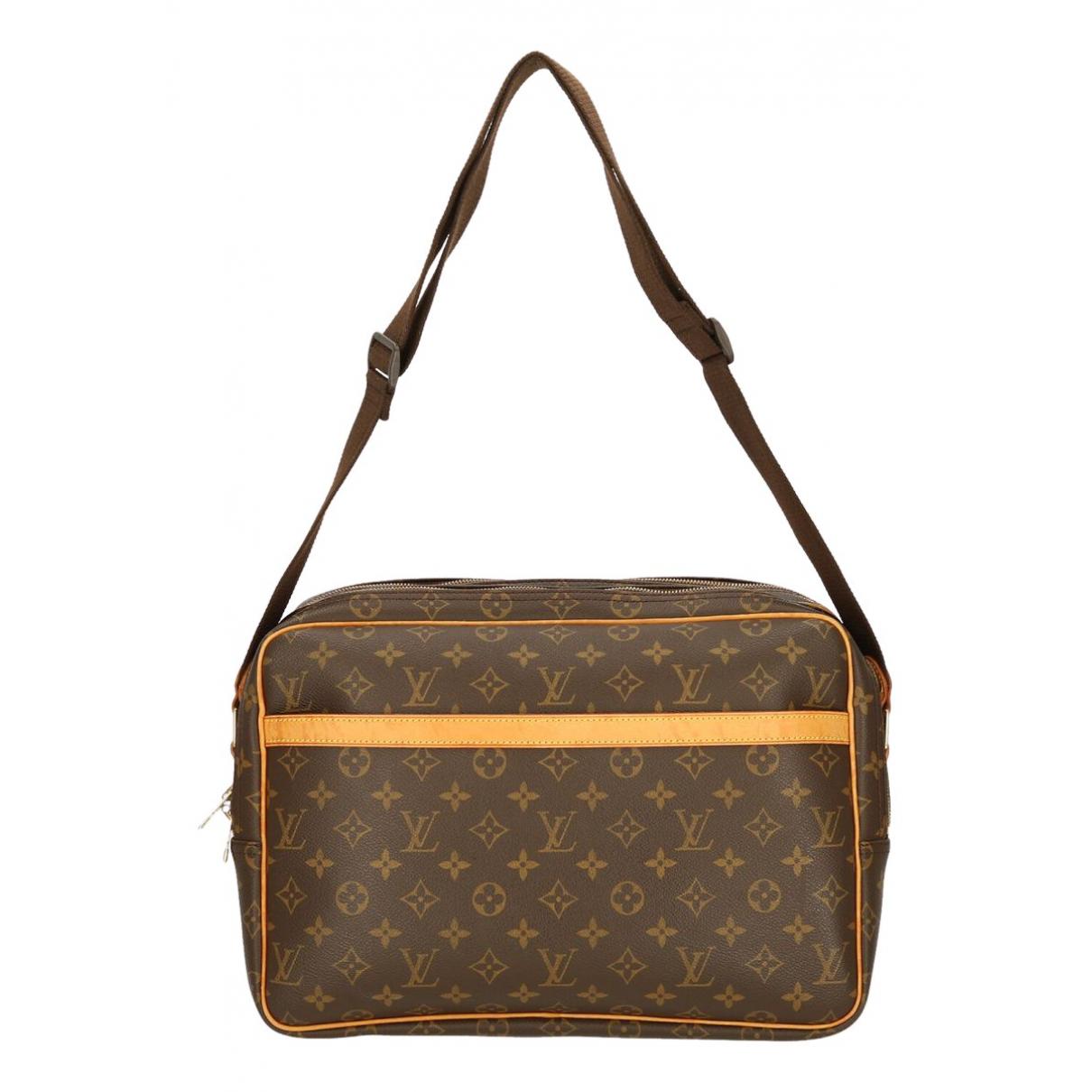 Louis Vuitton - Sac a main Reporter pour femme en toile - marron