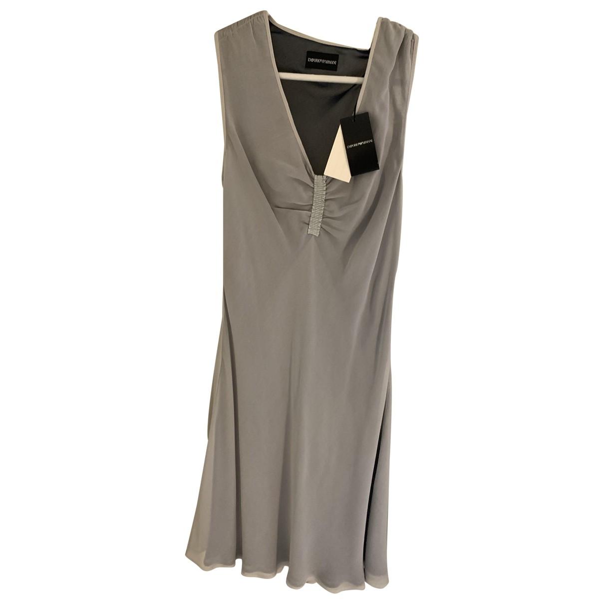 Emporio Armani \N Grey Silk dress for Women 42 IT