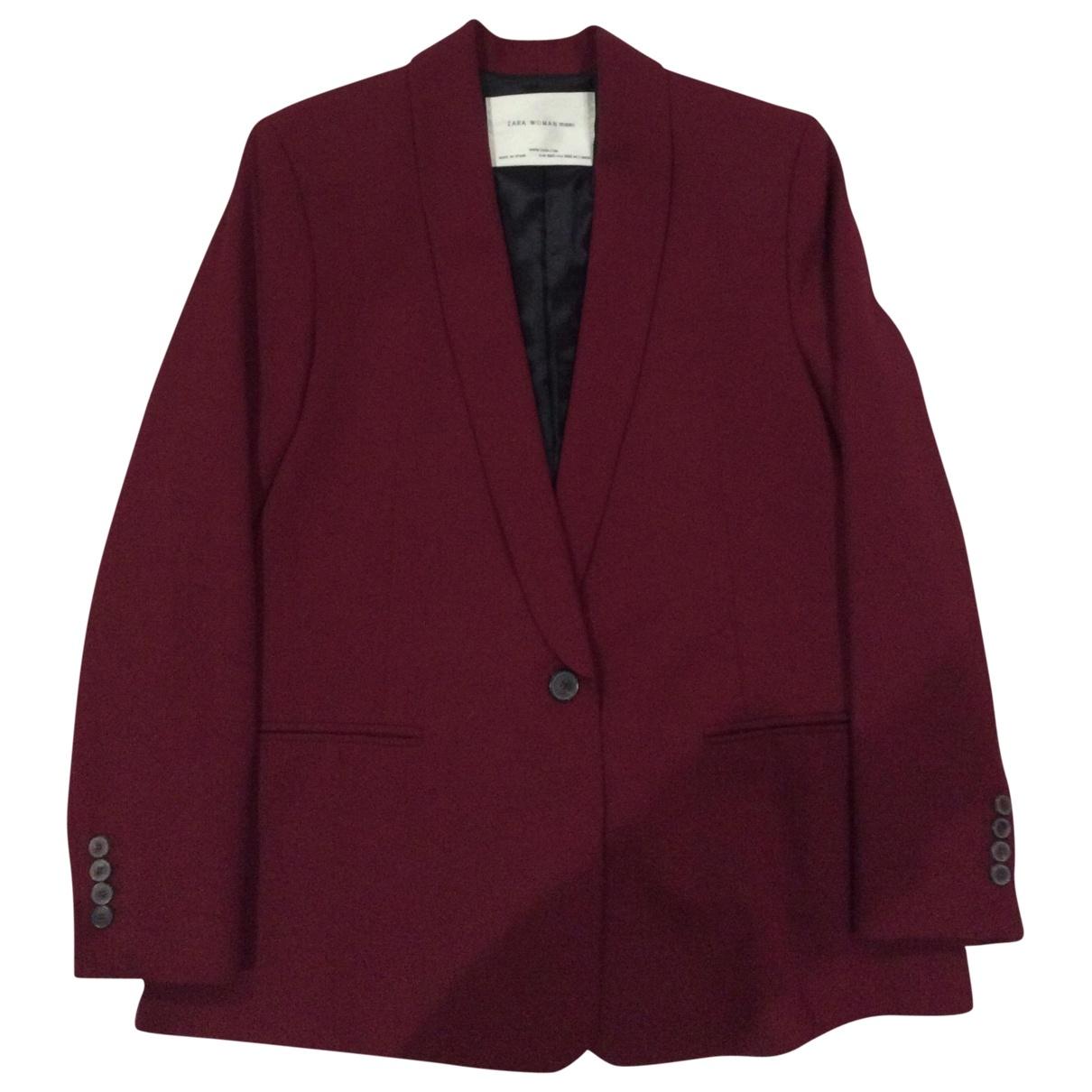 Zara \N Maentel in  Bordeauxrot Polyester