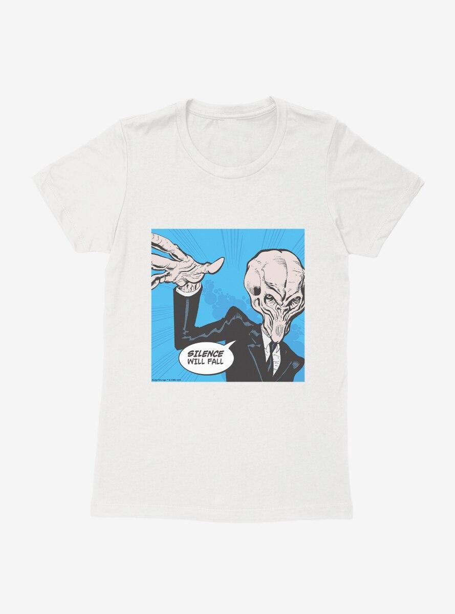 Doctor Who Silence Will Fall Pop Art Womens T-Shirt