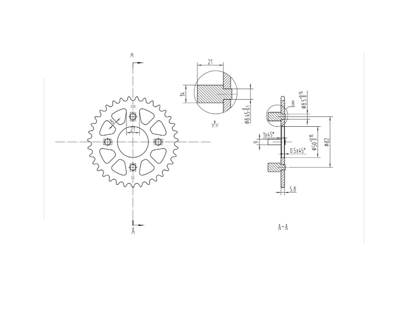 Bikemaster Moto Rear Sprocket 420 35t Honda
