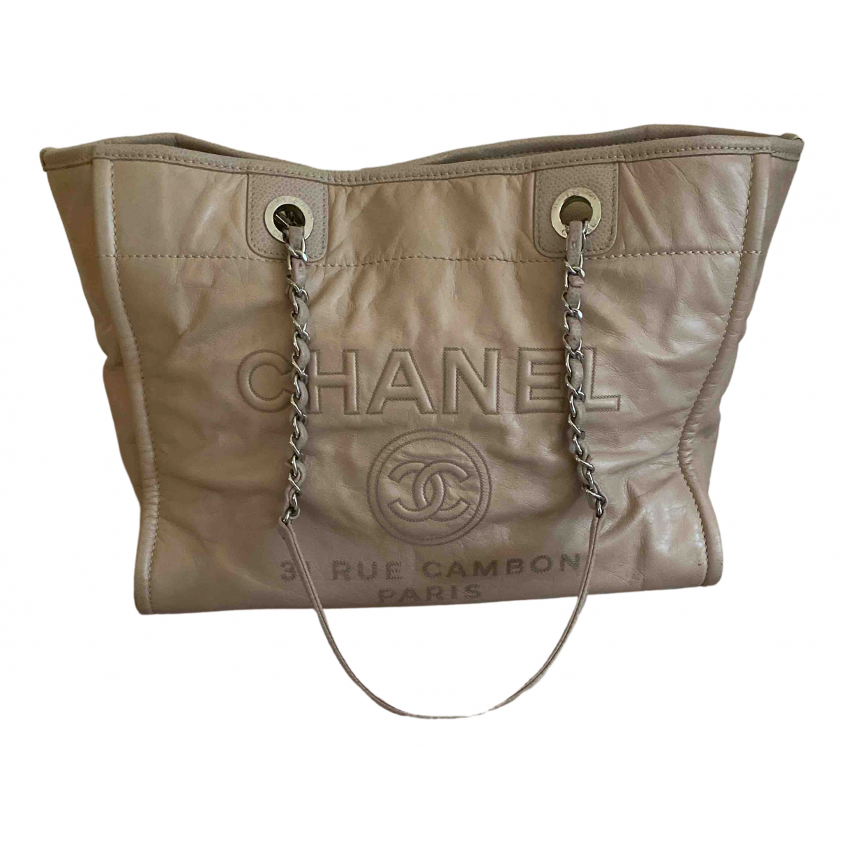 Chanel Deauville Pink Leather handbag for Women N