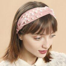 Faux Pearl Decor Headband