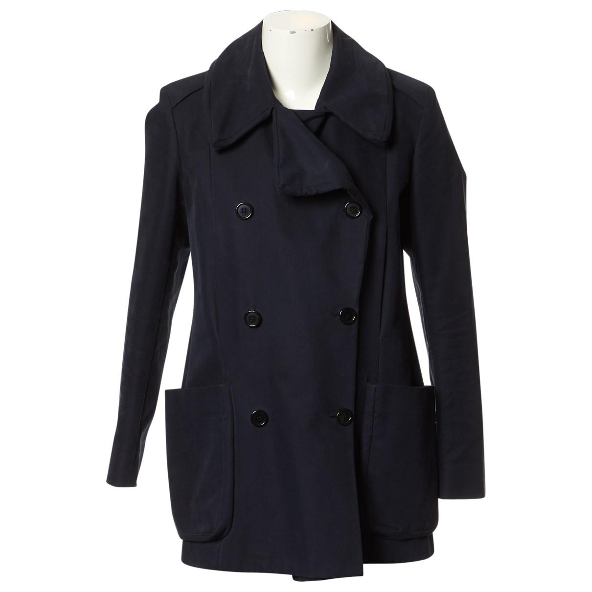 Maison Martin Margiela \N Navy Cotton coat for Women 42 IT