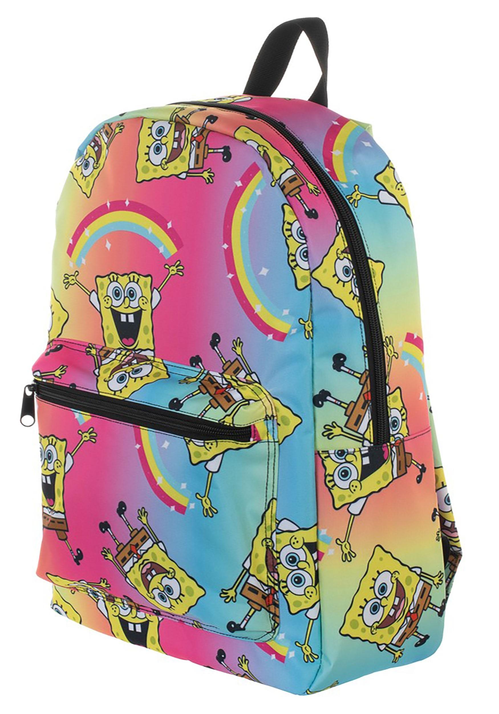 Spongebob Squarepants Rainbow Print Backpack