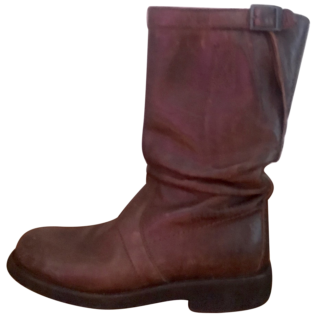Dirk Bikkembergs \N Brown Leather Boots for Women 36 EU