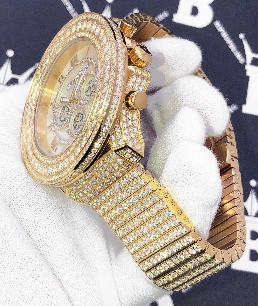 Full Bustdown CZ XL Bling Bling Hip Hop Watch