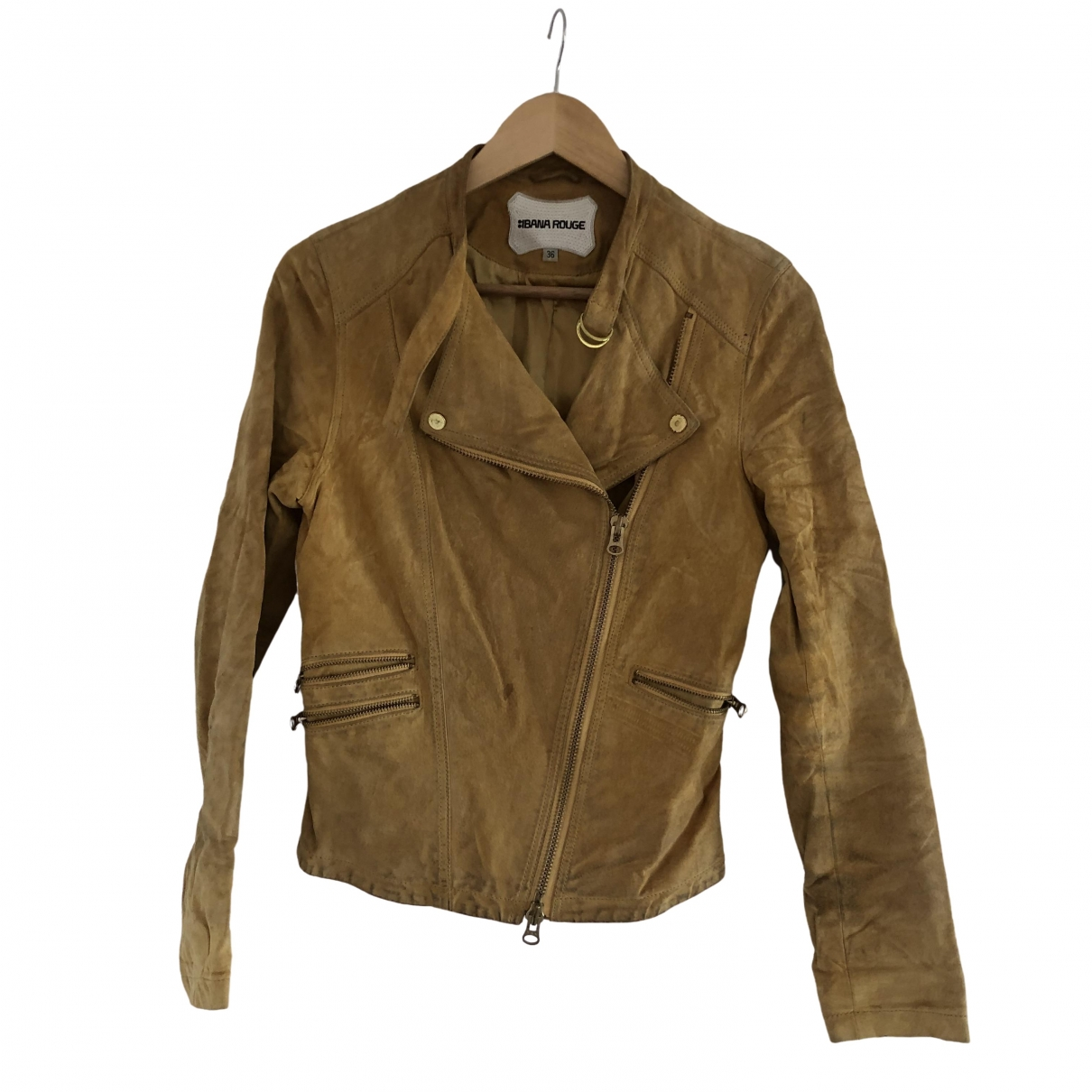 Ibana \N Yellow Suede jacket for Women 36 FR