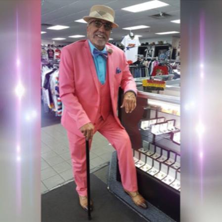 Mens Peak Lapel Single Breasted Pink Suit
