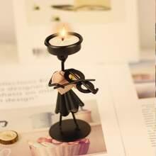 1 Stueck Eisen Kerzenhalter