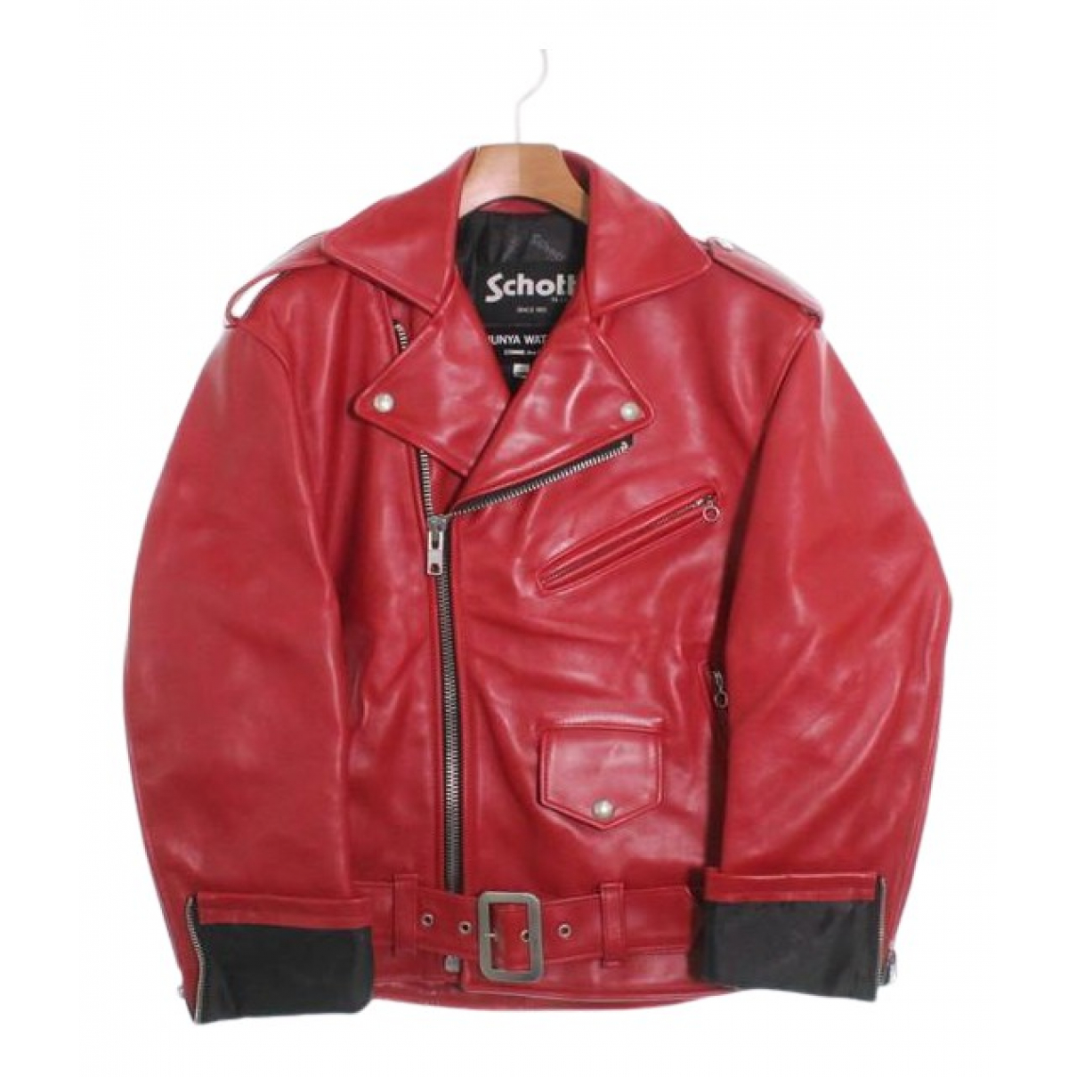 Comme Des Garcons N Red Leather jacket for Women XS International