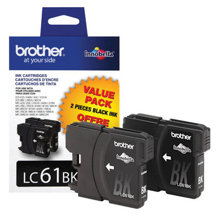 Brother DCP-395CN Original Black Ink Cartridge, Twin Pack