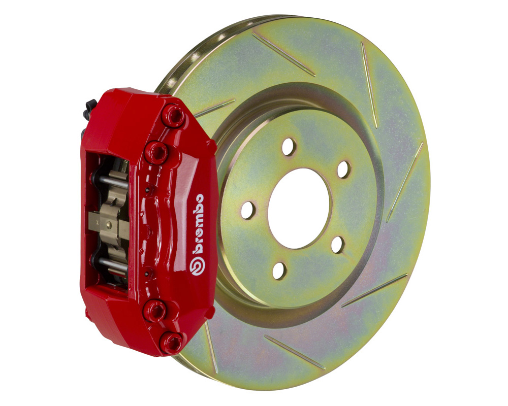 Brembo GT 330x28 1-Piece 4 Piston Red Slotted Front Big Brake Kit