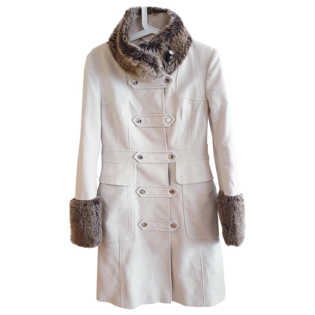 Karen Millen \N Beige Cotton coat for Women 12 UK