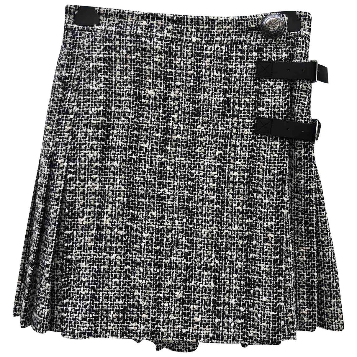 Alexander Mcqueen - Jupe   pour femme en tweed - noir