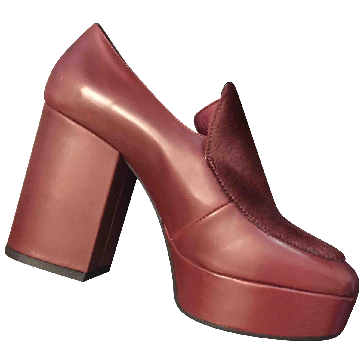 Vic Matié \N Burgundy Leather Ankle boots for Women 39 EU