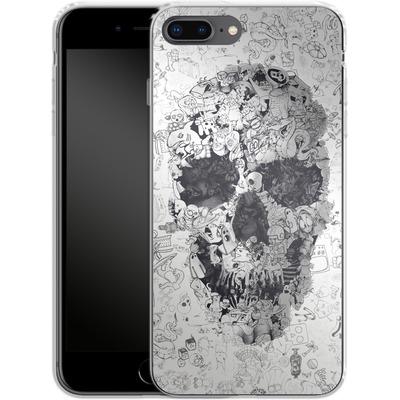 Apple iPhone 7 Plus Silikon Handyhuelle - Doodle Skull von Ali Gulec