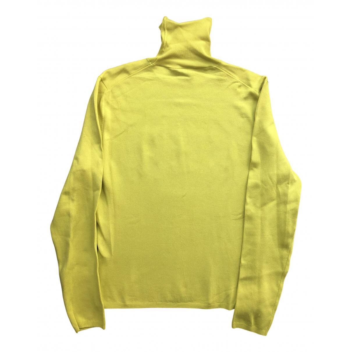 Gucci \N Pullover.Westen.Sweatshirts  in  Gelb Seide