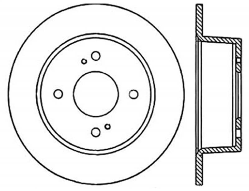StopTech 127.42014L Sport Drilled/Slotted Brake Rotor; Rear Left Nissan 280ZX Rear Left 1979-1981